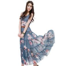 2014春装新款波西米亚风格连衣裙