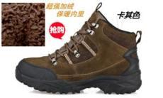 捷威戶外鞋情侶款戶外徒步登山鞋抓絨加厚