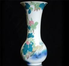 高端陈设瓷巴拿马花瓶手绘花瓶
