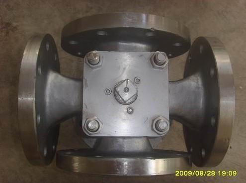> 不锈钢四通旋塞阀x45w-10p图片图片