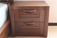 上海實木家具廠 榆木家具 純榆木床頭柜