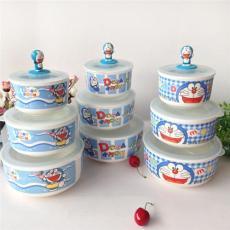 华雅骨瓷保鲜碗三件套 保鲜盒 饭盒 便当盒