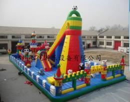 迪士尼大型充气蹦蹦床价格 144平儿童滑梯