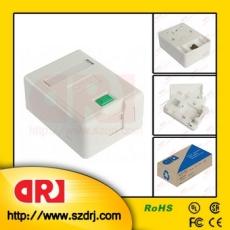 單口雙口桌面盒 桌面盒 桌面RJ45信息盒