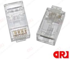 100/盒 RJ45水晶頭 RJ11水晶頭 網絡水晶頭