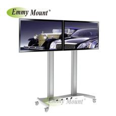 液晶电视移动支架 双屏电视移动推车
