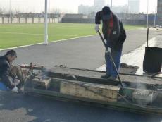 青島市新國標學校透氣型13mm塑膠跑道建設公