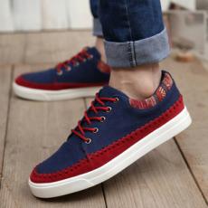 帆布鞋 鞋子休闲鞋韩版潮懒人鞋帆船运动板