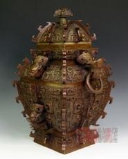 古代精美青铜器 皿天全方罍