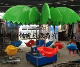 广场椰子树电动旋转小飞鱼/儿童小飞鱼价格