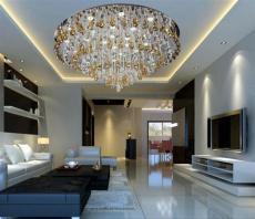 中山現代吸頂LED水晶燈批發代理歐式田園燈