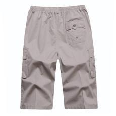 新款夏裝沙灘褲中年休閑中褲寬松7七分褲中
