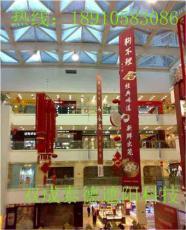 商场中庭遥控电动升降吊广告条幅装置