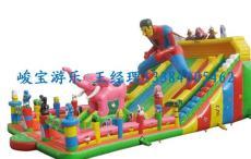 超人造型充氣大滑梯