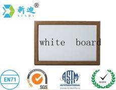 新迪90*120单面白板带双杠回转架 活动白板